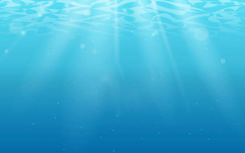 Widok wody pod powierzchnią