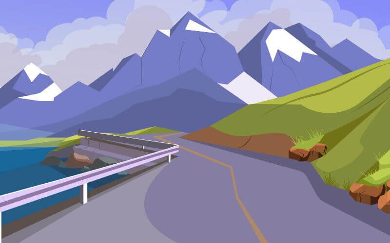 Podróż w góry krętą drogą
